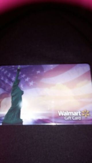 $25 Walmart gift card with GIN