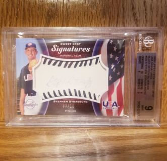 STEPHEN STRASBURG rookie AUTOGRAPH bas Beckett COA MLB Nationals slabbed mint 9 silver ink 03/12