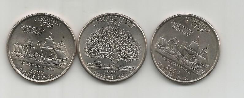 CHOICE P,D, VIRGINIA or Conn D quarter