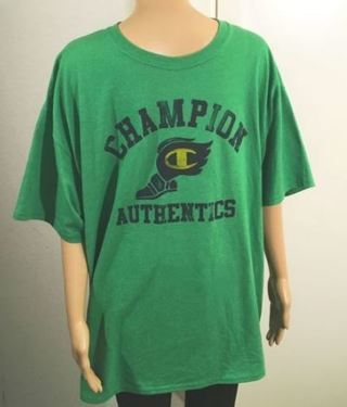 1 green Champion Shirt FREE SHIPPING