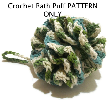 Free Crochet Pattern For Bath Pouf : Free: Crochet Bath Puff Loofah PDF CROCHET PATTERN ONLY ...