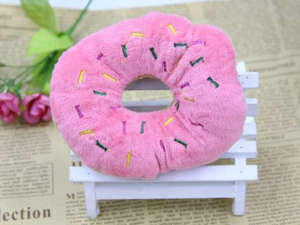 11-13 Cm Sightly Pet Chew Cotton Donut Play Toys Lovely Pet Dog Puppy Cat Tugging Chew Squeaker