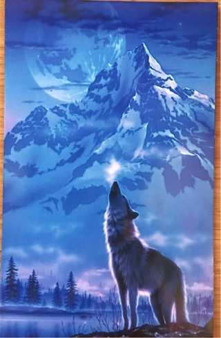 """HOWLING MOUNTAIN WOLF - 4 x 5"""" MAGNET"""