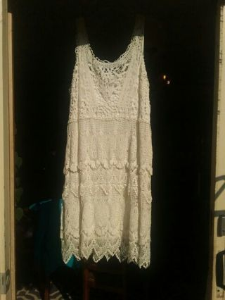 Cotton lace dress size 16