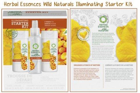 3 Pc Set Herbal Essences Wild Naturals Illuminating Starter Kit Hair Shine Collection