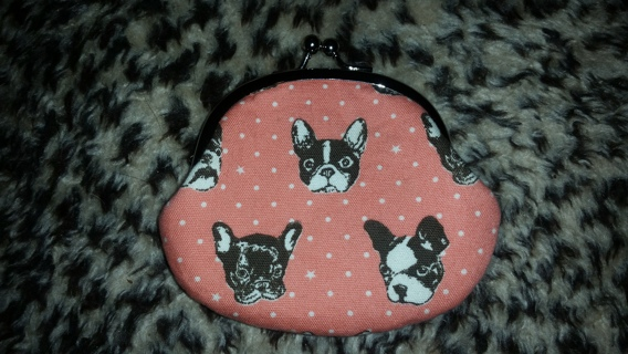 FREE NEW PINK FRENCH BULLDOG BOSTON TERRIOR COIN PURSE WALLET