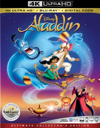Aladdin *1992* (4K Digital UHD Download Code Only) *Robin Williams* *Disney* *Gilbert Gottfried*