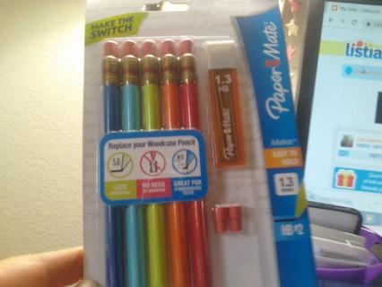 Paper Mate 5 Pack Mechanical Pencils Bonus BNIP