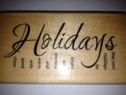 Free Paper Inspirations Holidays Rubber Stamp