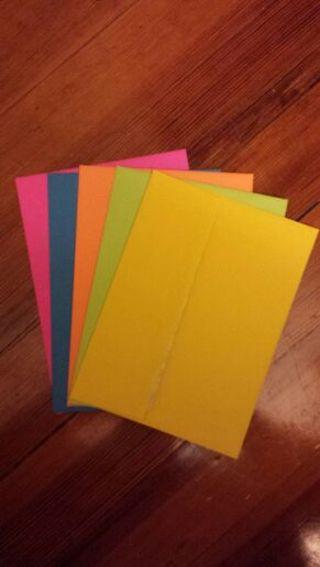 5 bright envelopes