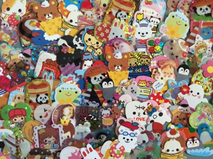 ☆ ☆ 20 Kawaii Vintage Sticker Flakes from My Collection ☆ ☆