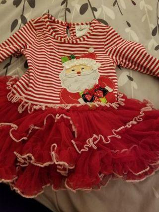 Beautiful Xmas dress baby girl 12 mo free shipping gin.