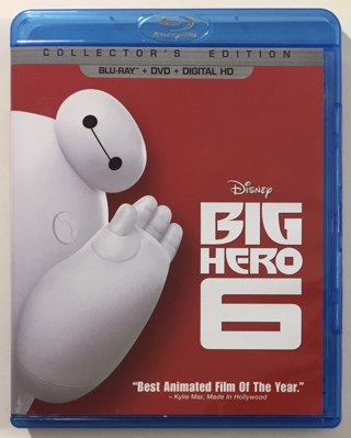 Disney Big Hero 6 Blu-ray / DVD Combo Collector's Edition Movie