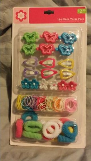 144 piece value pack hair accessories