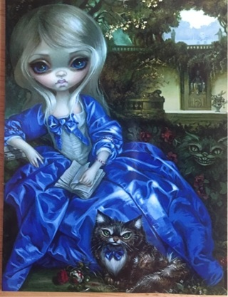 "BIG EYES IN BLUE DRESS - 3 x 4"" MAGNET"
