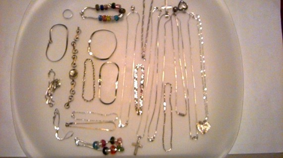 Lot of 20 Sterling Silver Jewelry Items