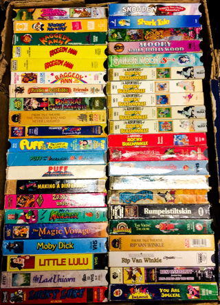 ANIMATED & CARTOON VHS TAPES
