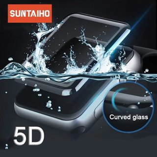 Suntaiho for apple watch Screen Protector 5D Full Cover Tempered Glass For Apple Watch 4 42/38mm