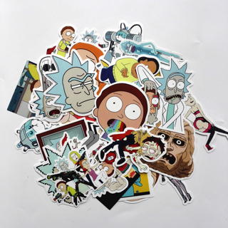 [GIN FOR FREE SHIPPING] 35Pcs Drama Rick and Morty Stickers Decal