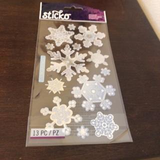 Sticko snowflake stickers
