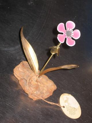 Vintage Copper Enamel Sculpture