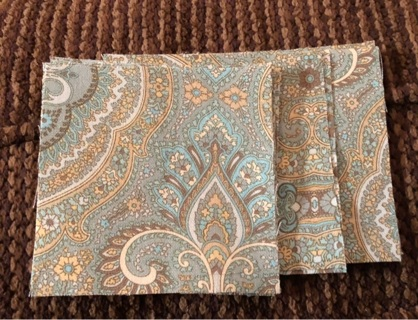 "12 4x4"" pre-cut cotton fabric squares"