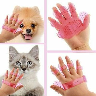Cleaning Massage Fur Shedding Remove Pet Dog Grooming Glove Bath Rake Brush Comb