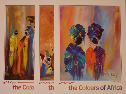 AFRICAN COLLECTION ART POSTCARDS