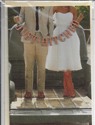 Hallmark 3D Wedding Card/Plaque - Just Hitched..
