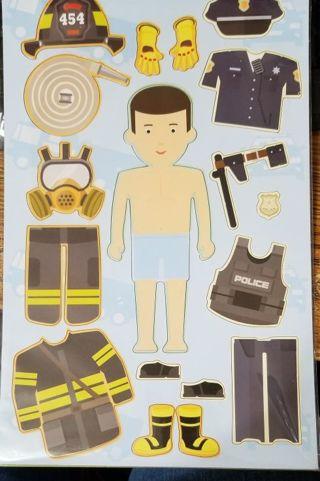 Mr Fireman Magnetic doll
