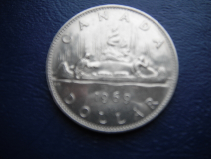 1969 CANADA $1 NICKEL DOLLAR- Circulated