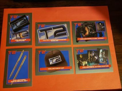 6 Vintage Impel Offer Cards Terminator 2 (1991) Lot # 2