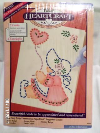 Tulip Heart Craft creative greeting cards