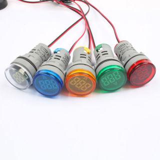 22MM AC 60-500V 0-100A LED Voltmeter Voltage/Current Meter Indicator Ammeter