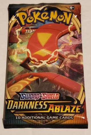 Pokémon Sword And Shield Darkness Ablaze 10 Card Booster Pack