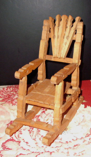 Astonishing Free Unique Clothespin Rocking Chair Made Of Clothespins Squirreltailoven Fun Painted Chair Ideas Images Squirreltailovenorg
