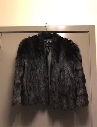 XL XXL Fur Women's Winter Jacket Coat Black Vintage Large