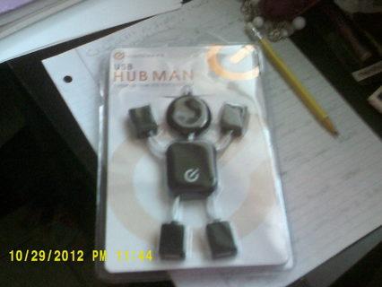 BLACK USB HUB MAN BY I CONECPTS