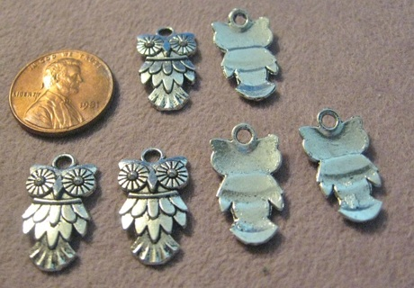 2 Pewter Owls ~ Silver or Bronze Color