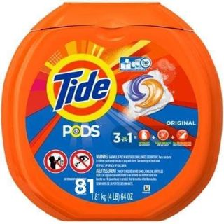 ✔TIDE PODS • ORIGINAL HE - 81 COUNT TUB ✔