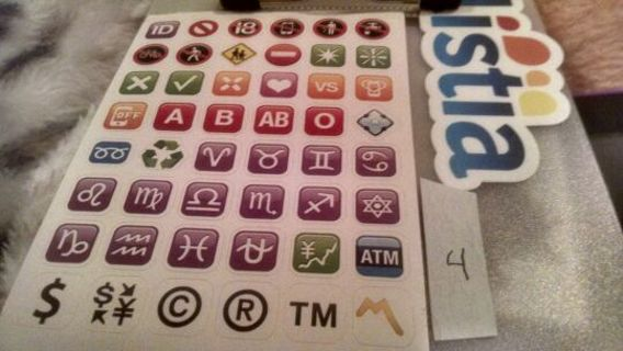 Your choice of 1 of 18 different sheets of emoji stickers