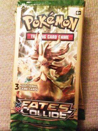 NEW Pokemon TCG: XY FATES COLLIDE Booster Pack Pokemon Cards TCG Toys Games Hobbies