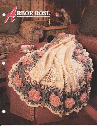 Free Afghan Crochet Pattern Arbor Rose Annies Attic Afghan Club