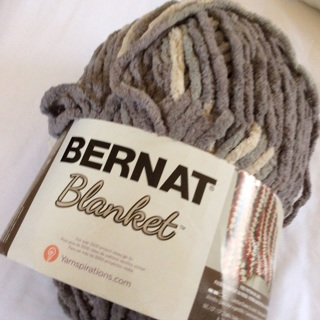 10.5 Oz BERNAT Silver Steel Blanket Yarn.