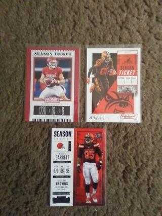 (3) Cleveland Browns Cards, Baker Mayfield, M.Garrett+Jarvis Landry.