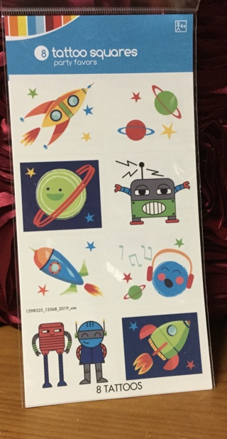 Outer Space Tattoo Squares (8)