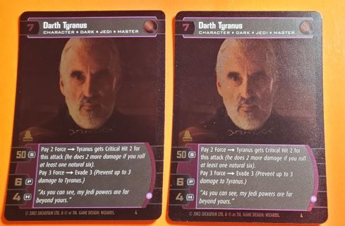 2 Star Wars Game Cards 2002