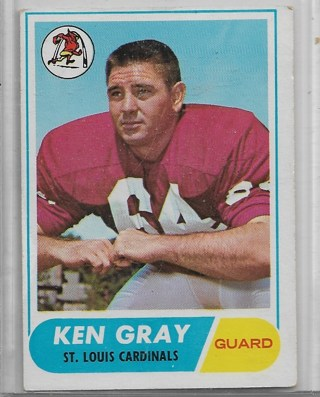 1968 Topps #138 Ken Gray  Team: St. Louis Cardinals FB