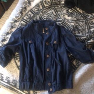 Navy blue 3/4 sleeve jacket