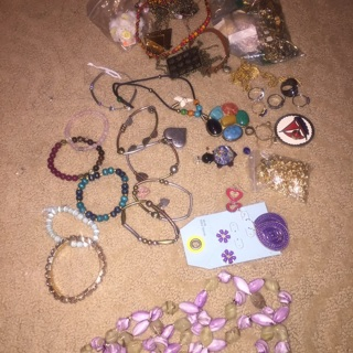 Random Mixed Jewelry Lot Bracelets Rings necklaces +++